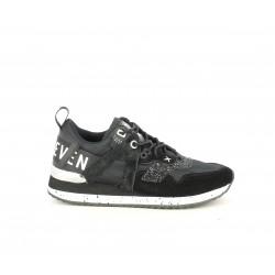 Zapatillas deportivas SixtySeven 67 negras de diferentes texturas con cordones