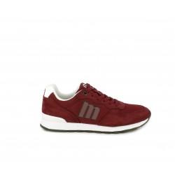 Zapatillas deportivas Mustang rojas y blancas con cordones - Querol online