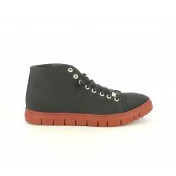 Zapatos planos Slowwalk negros de cordones con suela roja - Querol online