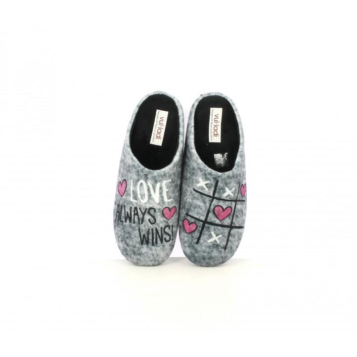 Zapatillas casa Vul·ladi grises con estampado - Querol online