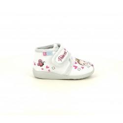 Zapatillas casa Garzon grises de princesa con velcro - Querol online