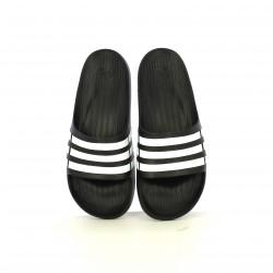 Chanclas Adidas negras y blancas de rayas - Querol online