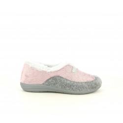 Zapatillas casa Laro rosas y grises - Querol online