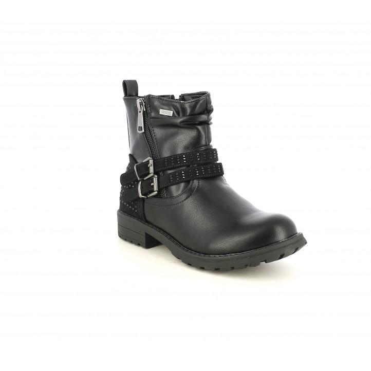 Botes MustangKids negres amb brillants, tires i sivelles - Querol online