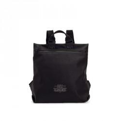 bolsos Slang Barcelona mochila negra con apertura en la parte delantera - Querol online
