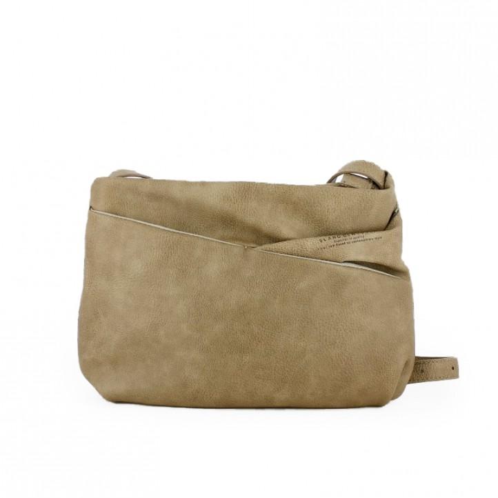 Complementos Slang Barcelona bolso pequeño beige con asa y bolsillos imantados - Querol online