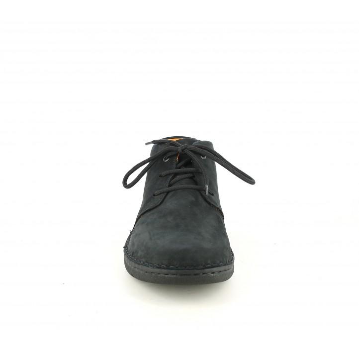 Botins Zen de pell negres amb cordons - Querol online