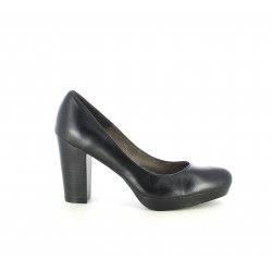 Zapatos tacón Patricia Miller de piel negros - Querol online