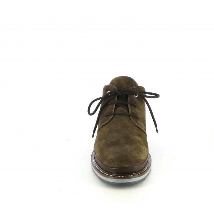 Botins Zen de pell marrons amb cordons - Querol online