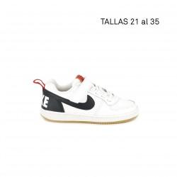 Sabatilles esport Nike blanca, blava i vermella