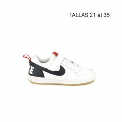 Zapatillas deporte Nike blanca, azul y roja