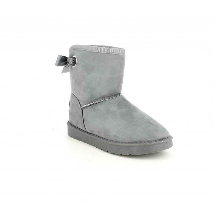 Botines QUETS! grises con forro interior y lazo parte trasera - Querol online