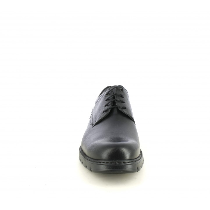 Zapatos sport Fluchos bluchers negros con cordones - Querol online