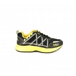 Zapatillas deporte NASA negras y amarillas con cordones