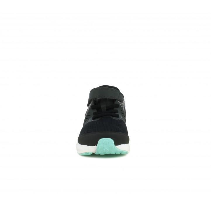 Zapatillas deporte Nike star runner 2 negras con detalles brillantes - Querol online