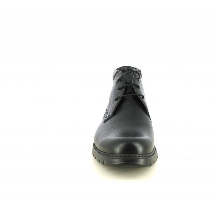 Botins Fluchos negres de pell amb cordons - Querol online