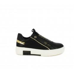 Zapatillas deportivas Replay negras con cremallera y detalles dorados - Querol online