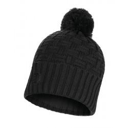 Complementos BUFF negro de tricot con forro polar en el interior