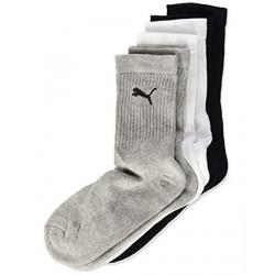 Complementos PUMA pack de 3 calcetnes gris, blanco y negro