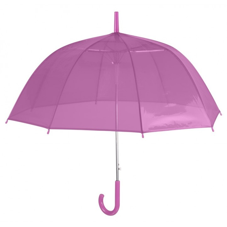 Complementos PERLETTI paraguas rosa transparente - Querol online