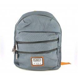 Complementos MUNICH mochila gris con detalles naranjas