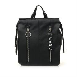 bolsos Maria Mare mochila con cierre de cremallera y detalles en plateado - Querol online