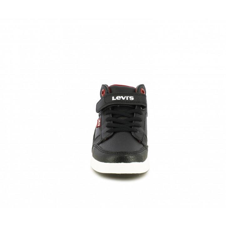 Botins Levi's negres amb elàstics i folro tèxtil - Querol online