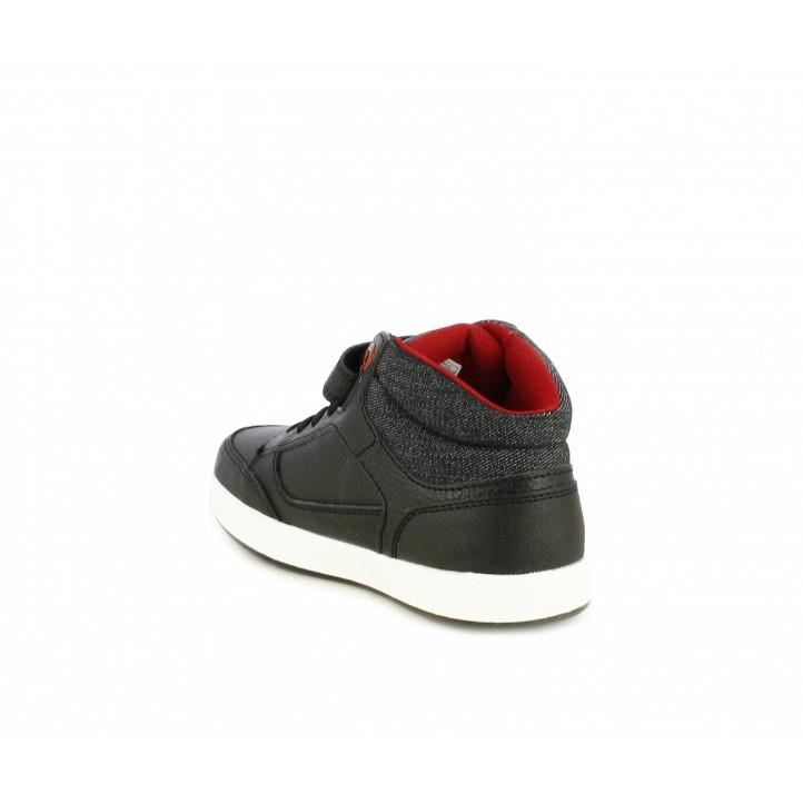 Botines Levi's negra con detalles en rojo con elásticos y velcro - Querol online