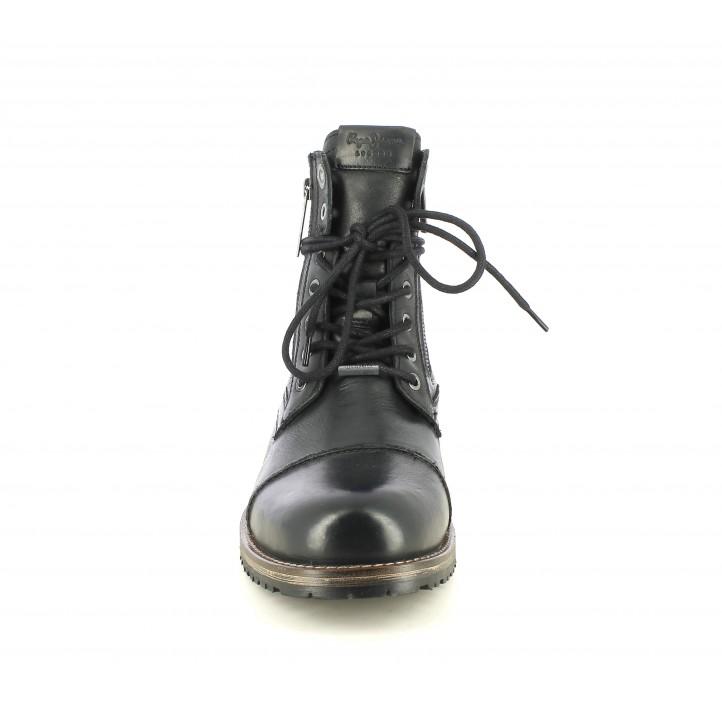 Botins Pepe Jeans negres amb cordons i dues cremalleres - Querol online