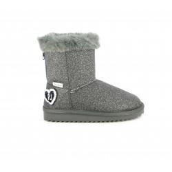 Botas Pepe Jeans glitter gris con cremallera trasera y forro interior - Querol online
