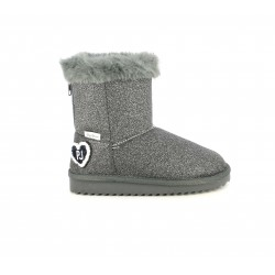 Botes Pepe Jeans gletter gris amb cremalelra darrere i folro interior - Querol online