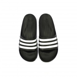 Chanclas Adidas negras con rayas blancas - Querol online