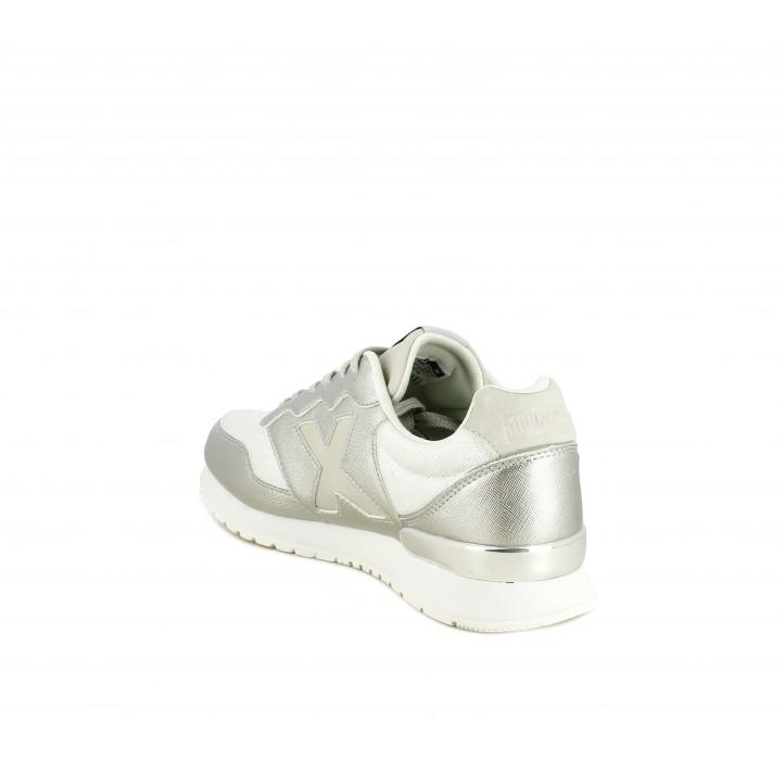 Zapatillas deportivas MUNICH dash 64 platadas con cordones - Querol online