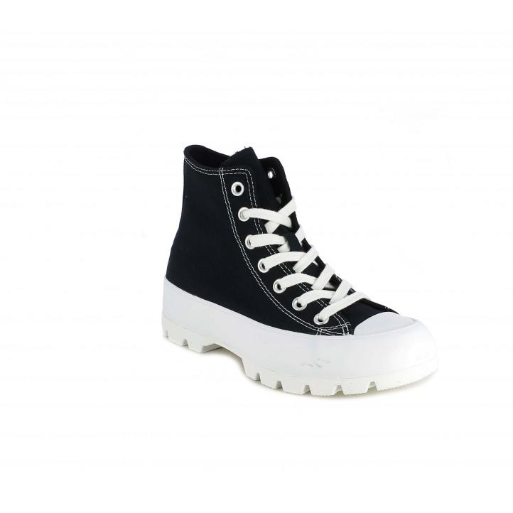Zapatillas lona Converse chuck taylor all star lugged negras - Querol online
