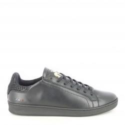 Zapatillas deportivas Le Coq Sportif negras con detalles en dorado y efecto piton - Querol online