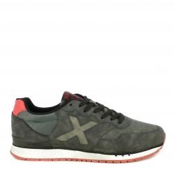 Zapatillas deportivas MUNICH dash negras con detalles en rojo - Querol online