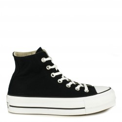 Zapatillas lona Converse negras chuck taylor all star lift high top - Querol online