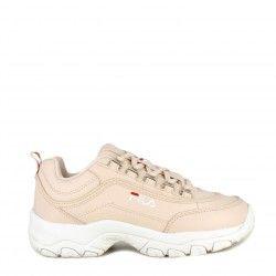 Zapatillas deportivas Fila rosa strada low con cordones