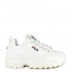 Zapatillas deportivas Fila blancas con cordones modelo disruptor low