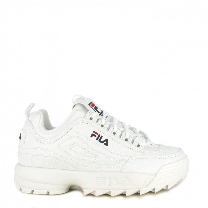 Zapatillas deportivas Fila blancas con cordones modelo disruptor low - Querol online