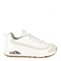 Zapatillas deportivas Skechers blancas con cordones modelo street uno plantillas memory foam