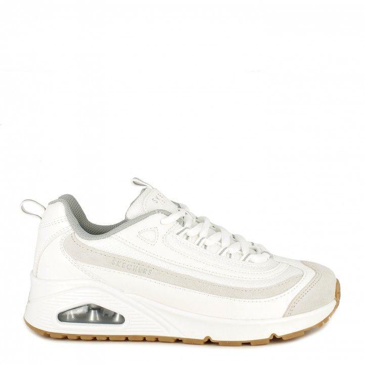 Sabatilles esportives Skechers blanques amb cordons model street uno plantilla memory foam - Querol online