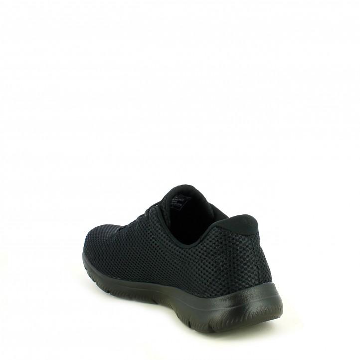 Sabatilles esportives Skechers negres amb cordons elàstics plantilla memory foam - Querol online
