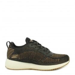 Zapatillas deportivas Skechers negras knit con detalles metálicos plantilla memory foam