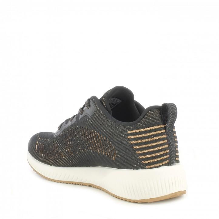 Sabatilles esportives Skechers negres knit amb detalls metàl-lic plantilla memory foam - Querol online