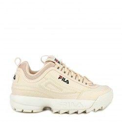 Zapatillas deportivas Fila rosa palo con cordones modelo disruptor low