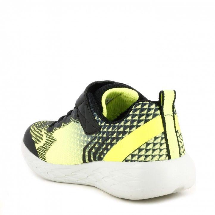 Sabatilles esport Skechers combinada en negre i groc fluor model gorun 600 - Querol online