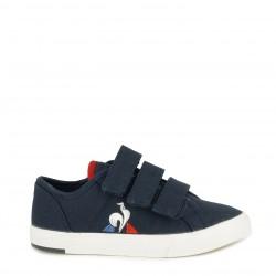 Zapatillas lona Le Coq Sportif azul marino con tres velcros suela de caucho - Querol online
