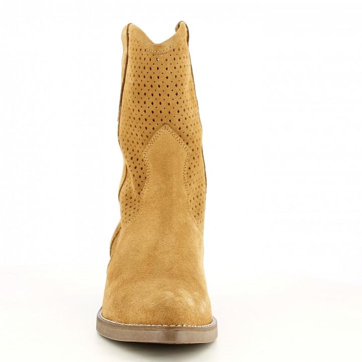 Botins de taló Redlove cuir amb detalls calats en la canya - Querol online