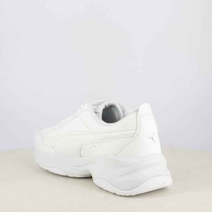 Botines tacón Puma blancas con cordones modelo cilia mode - Querol online